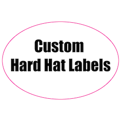 2 x 3 Oval Custom Printed Reflective Hard Hat Labels