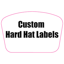 2 x 3 Custom Rectangle Custom Printed Reflective Hard Hat