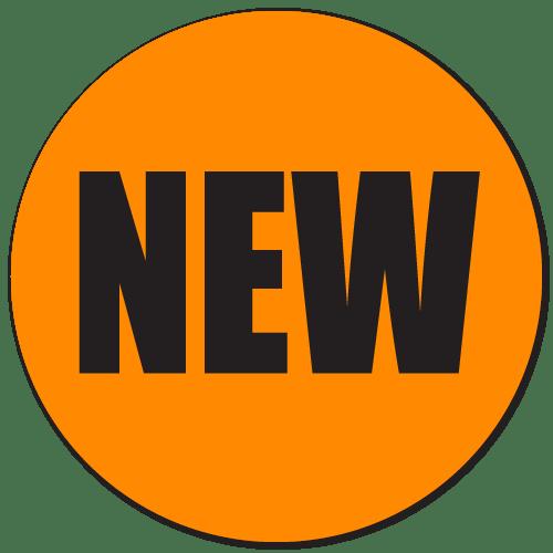 new fluorescent orange stickers