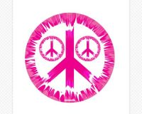Peace Sign Wall Decals | Tie Dye Peace Sign | Sticker Genius