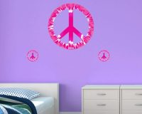 Peace Sign Wall Decal | Removable Wall Decorations