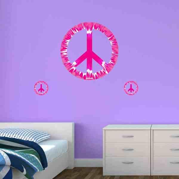 Peace Sign Wall Decals Tie Dye Sticker Genius