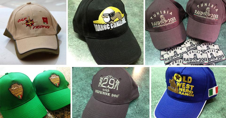Cappellini ricamati personalizzati con il proprio logo