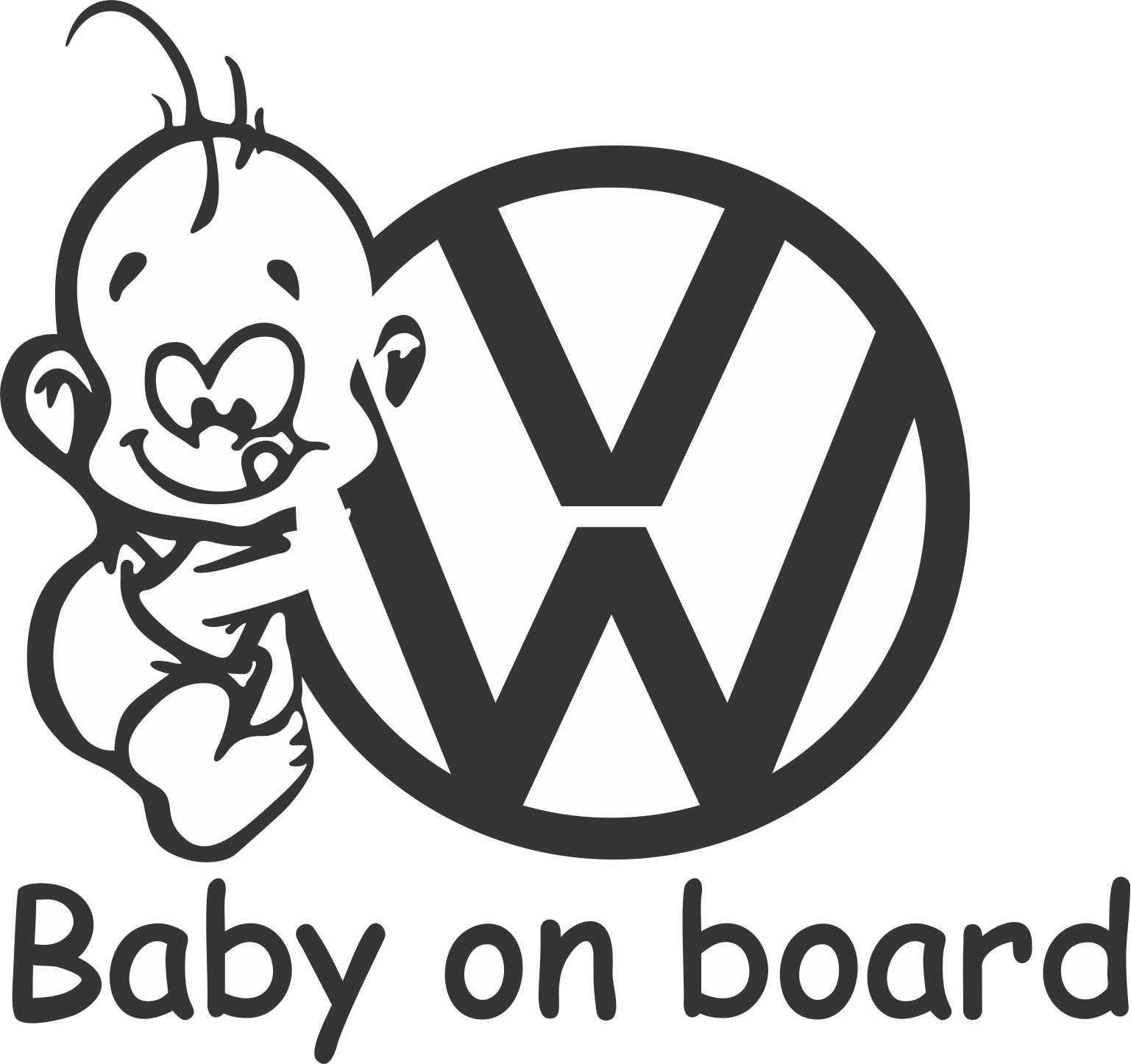 Sticker Baby On Board Vw En