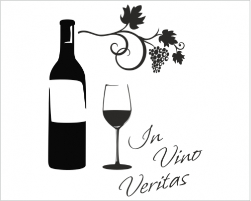 Wandtattoo In Vino Veritas