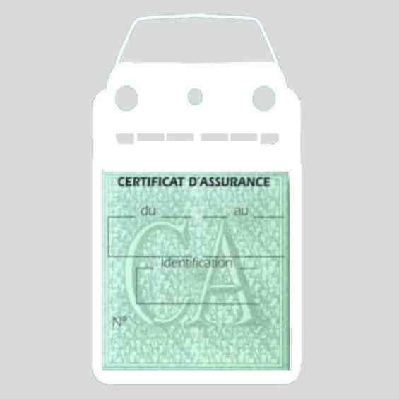 Golf II vignette assurance voiture Volkswagen blanc