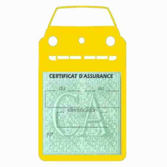 Golf II vignette assurance voiture Volkswagen jaune