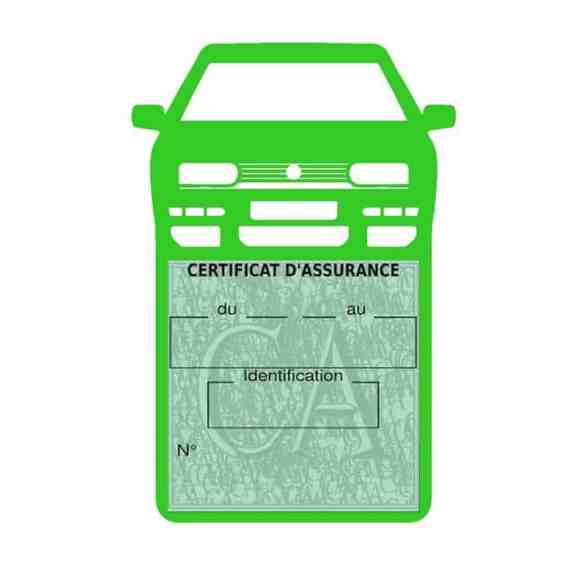 Golf 3 vignette assurance voiture Volkswagen vert clair
