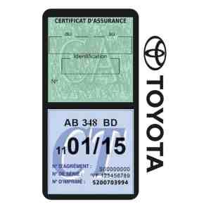 TOYOTA porte vignette assurance voiture