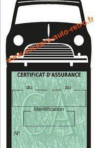Porte assurance vignette Mini Austin 1000