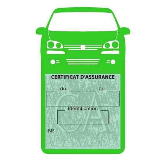 GOLF 6 Vignette assurance voiture Volkswagen vert clair