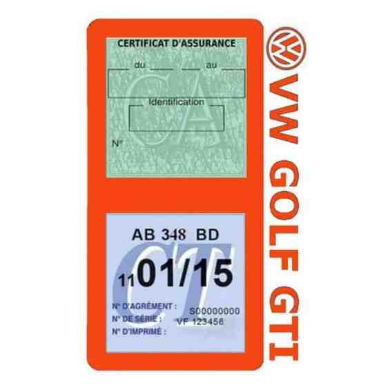 GOLF GTI vignette assurance Volkswagen orange