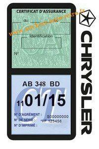 Porte étui assurance Chrysler double vignette