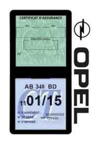 Pochette assurance Opel double étui vignette