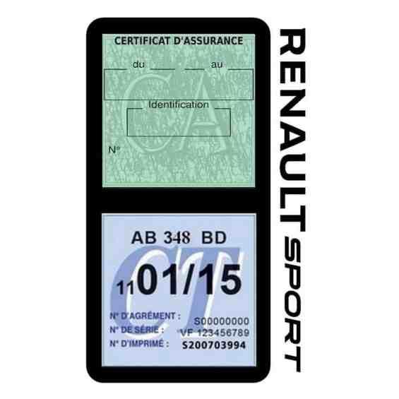 Etui double vignette assurance voiture Renault Sport RS