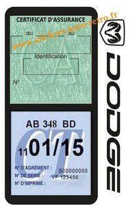 Porte double assurance auto DODGE