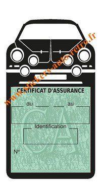 Porte assurance auto Renault Alpinette A110 noir