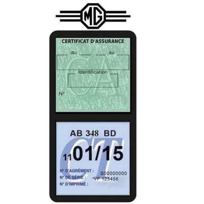 Porte assurance méga MG logo voiture