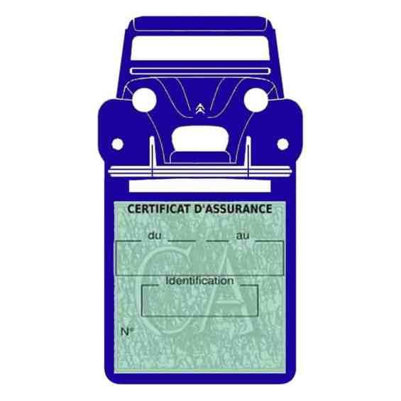 2CV Citroën vignette assurance voiture bleu foncé