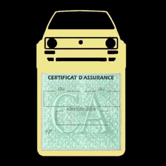 Porte vignette voiture Golf1 Volkswagen beige