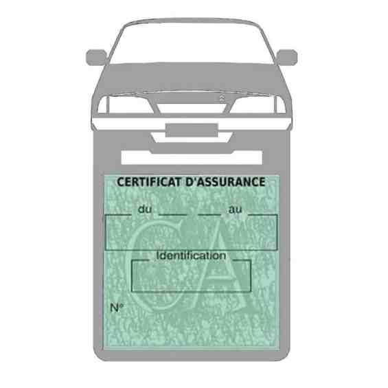 AX CITROEN vignette assurance voiture gris