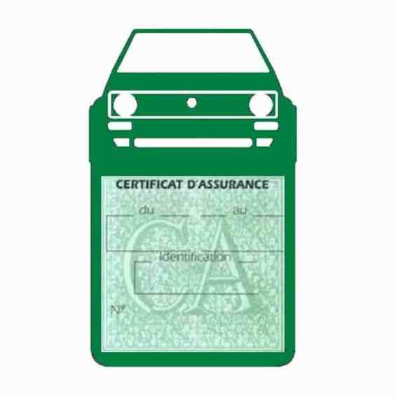 GOLF1 porte étui assurance voiture Volkswagen vert foncé une pochette simple
