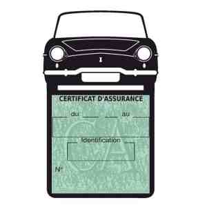 RENAULT CARAVELLE pochette assurance voiture noir