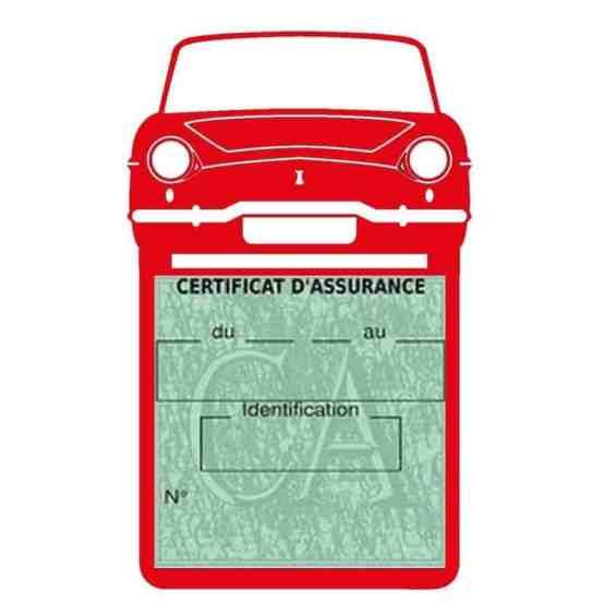 RENAULT CARAVELLE pochette assurance voiture rouge