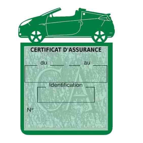 WIND RENAULT étui assurance voiture vert foncé
