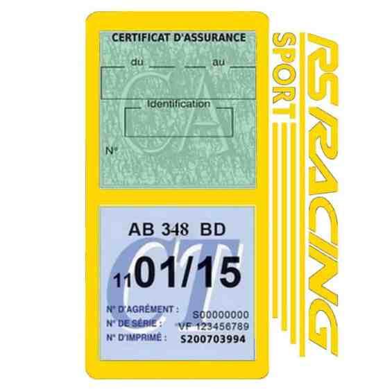 RS Racing Sport Vignette assurance voiture jaune