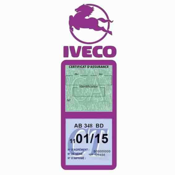 IVECO Vignette Assurance Poids Lourds mauve