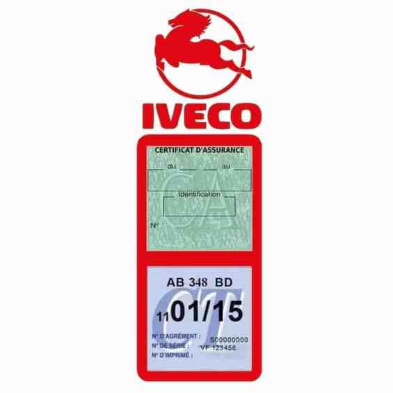 IVECO Vignette Assurance Poids Lourds rouge