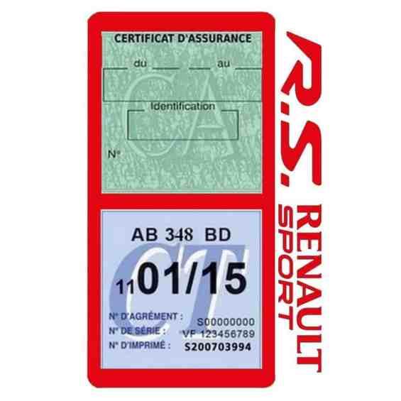 R.S Renault Sport Vignette assurance voiture rouge