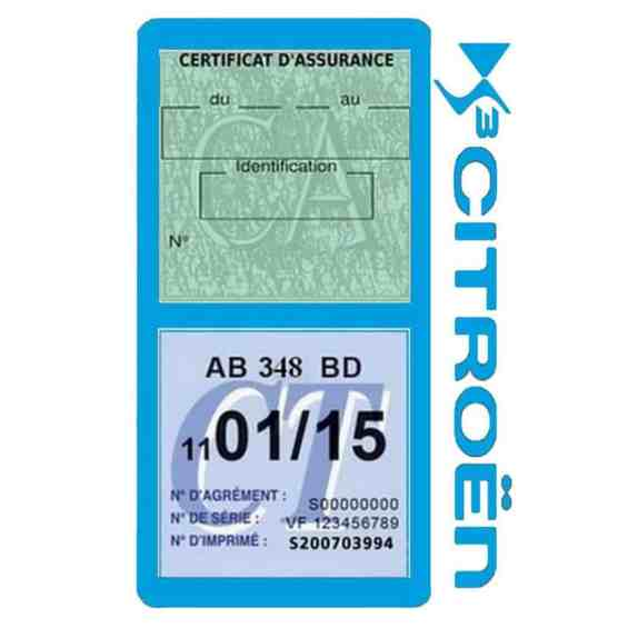DS3 CITROEN vignette assurance voiture méga bleu clair