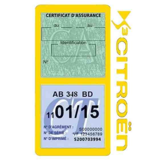 DS3 CITROEN vignette assurance voiture méga jaune