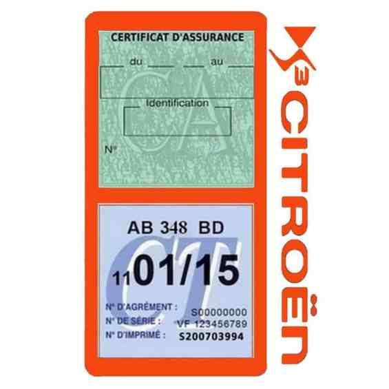 DS3 CITROEN vignette assurance voiture méga orange