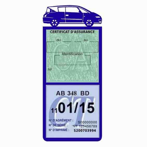AVANTIME RENAULT Etui assurance voiture méga pochette bleu foncé