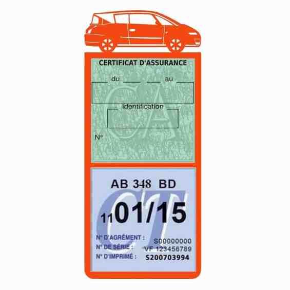 AVANTIME RENAULT Etui assurance voiture méga pochette orange