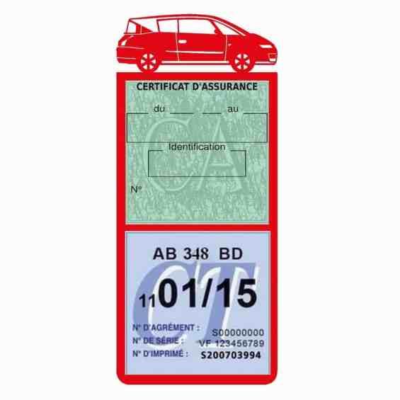 AVANTIME RENAULT Etui assurance voiture méga pochette rouge