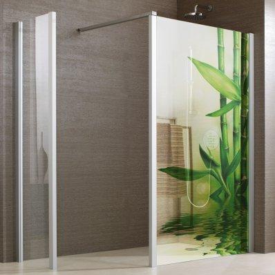 Wandtattoos folies  Glasdekor Dusche Bambus