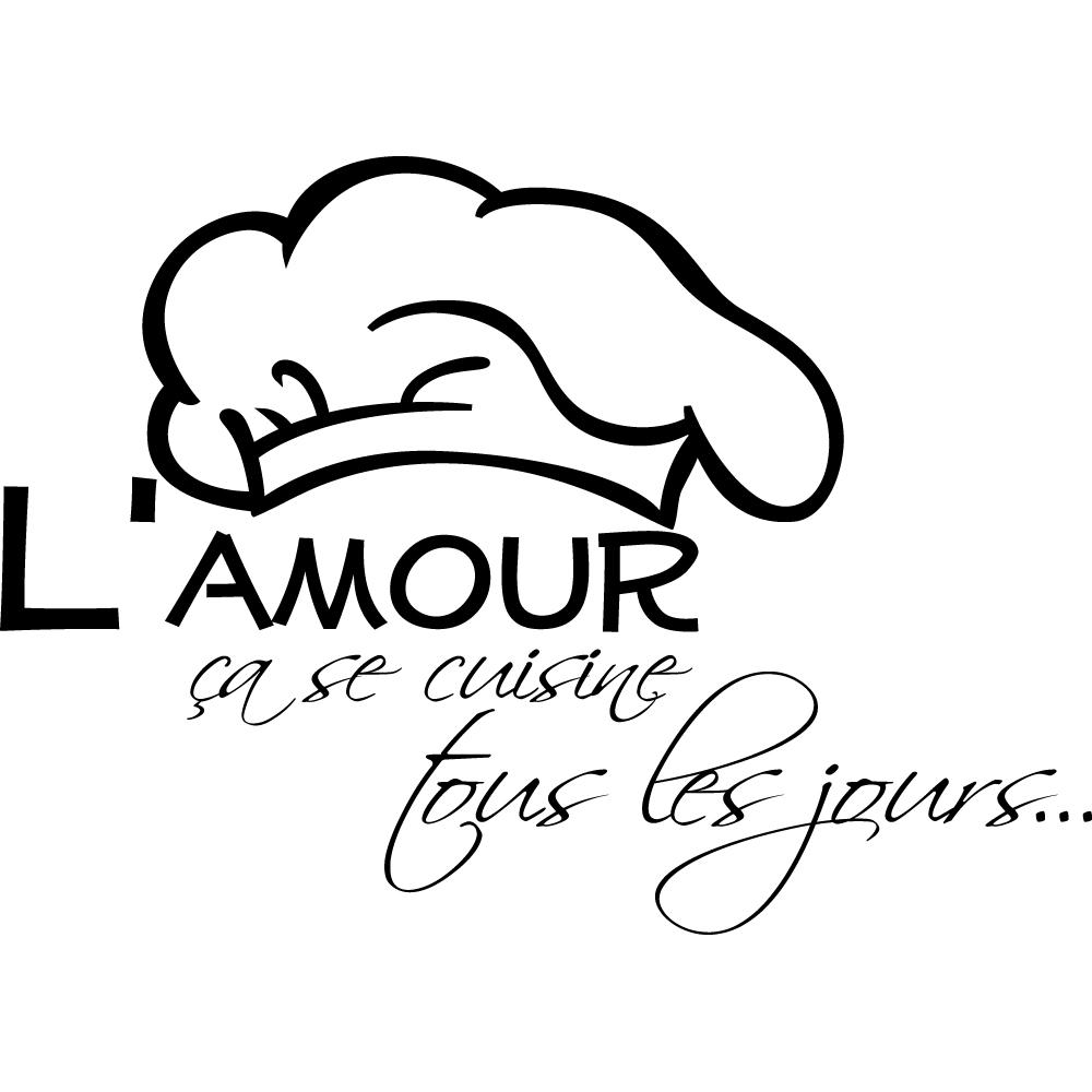 Stickers citation Amour Pas Cher