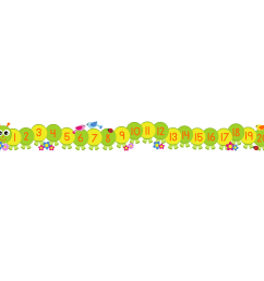 caterpillar number line wall sticker [ 1500 x 1500 Pixel ]
