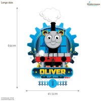 Personalised Thomas Cog wall sticker | Stickerscape | UK