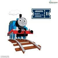 Personalised Thomas ticket wall sticker | Thomas & Friends ...