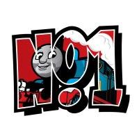No.1 Thomas the Tank engine wall sticker | Stickerscape | UK