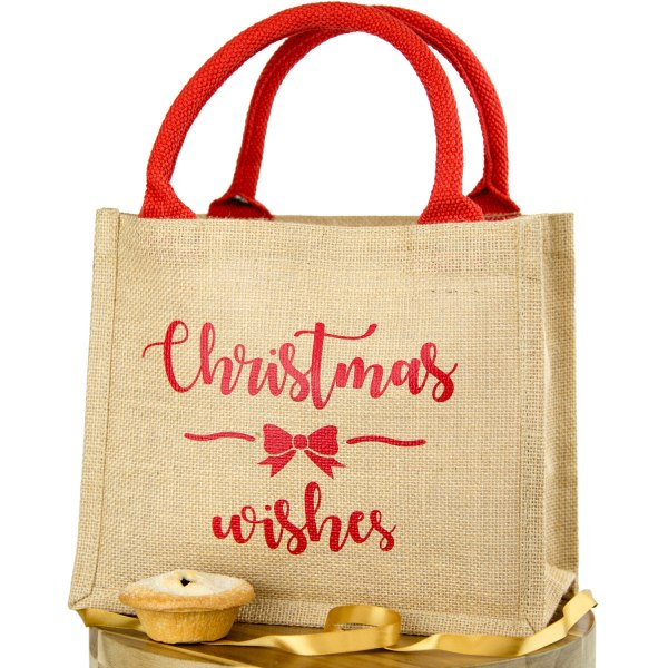Christmas Wishes jute bag Christmas gift bag