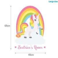Personalised rainbow unicorn wall sticker | Stickerscape | UK