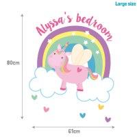 Personalised flying unicorn wall sticker | Stickerscape | UK