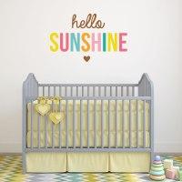 Hello Sunshine wall sticker quote   Nursery wall stickers ...