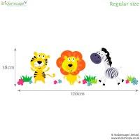 Jungle animal wall stickers | Jungle wall stickers ...